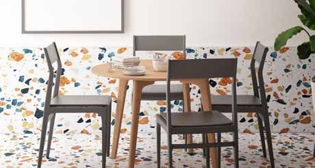 What are the Colors Available in the Terrazzo Floor Tiles