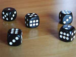 Do Friction effect the randomness of the dice